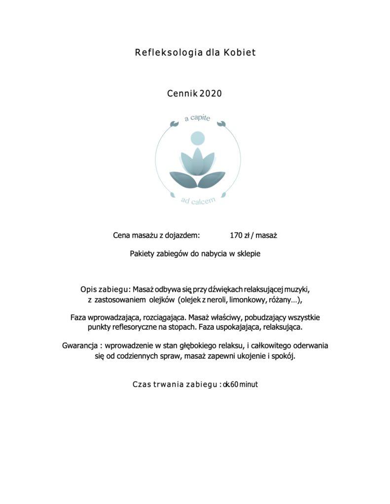 refleksologia dla kobiet Kraków